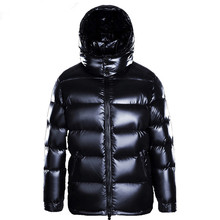 Winter Goose Down Jacket Men Hooded Thick Coat Puffer Jacket Men High Quality Men #8217 s Down Jackets 2019 M7YYF8001 KJ3116 cheap ZVAQS REGULAR Casual zipper Full Pockets Thick (Winter) Broadcloth NYLON Grey goose down NONE 250g-300g Solid S M L XL XXL 3XL 4XL