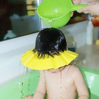 Baby Kids Shampoo Bath Shower Cap Soft Adjustable Waterproof Hat For Washing Hair Shield