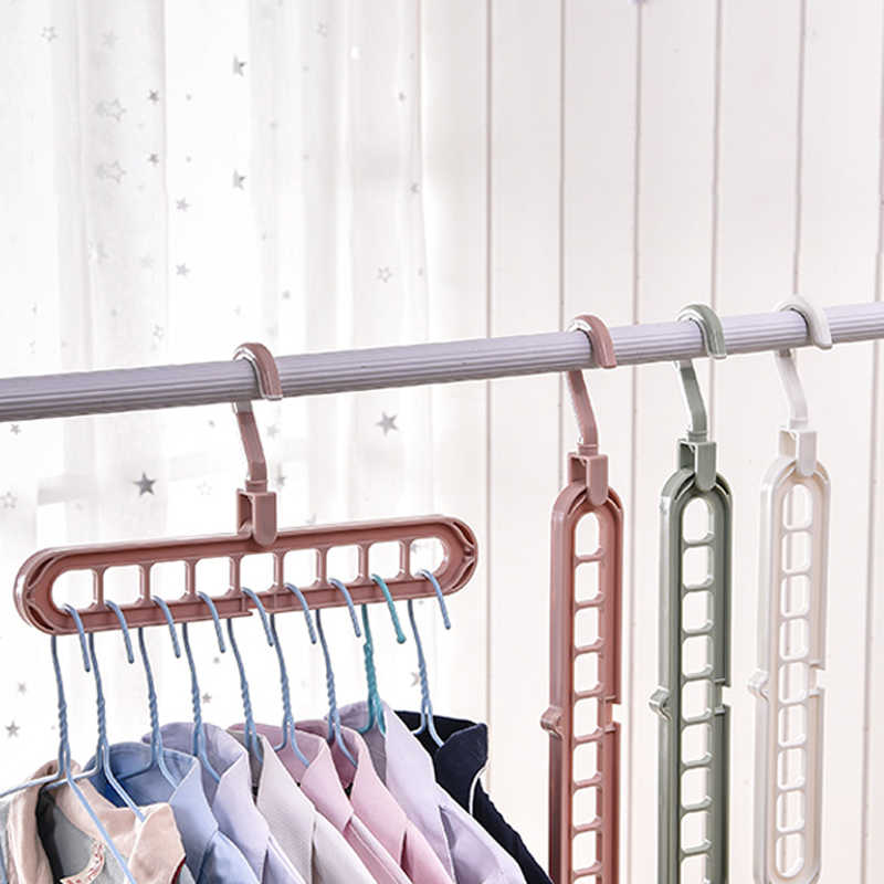 multi port plastic clothes support drying rack 9 layer hanger holder stand multifunction rotate space saving storage organizer