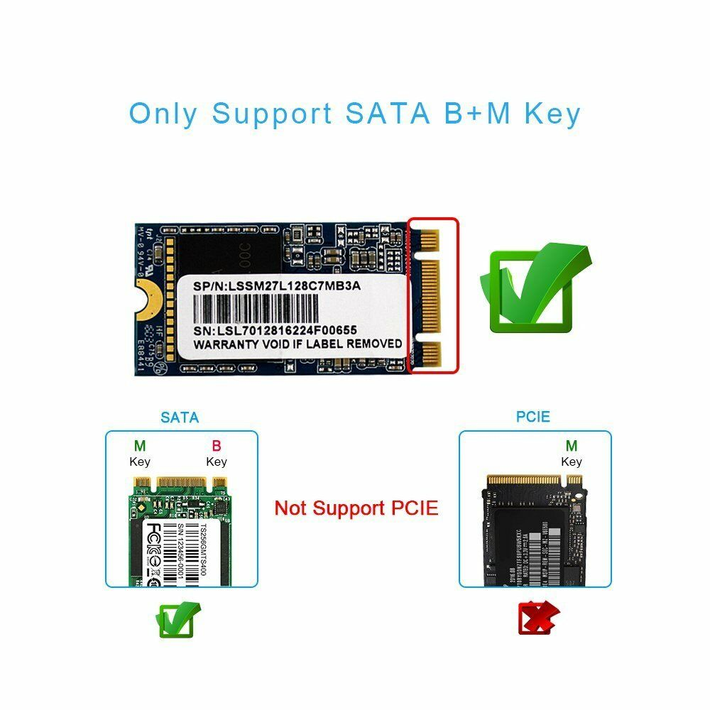 lowest price Super Speed 5Gbps USB 3 0 to M 2 2230 2242 SSD Enclosure NGFF SATA-bus B KEY External SSD Adapter Case Support UASP