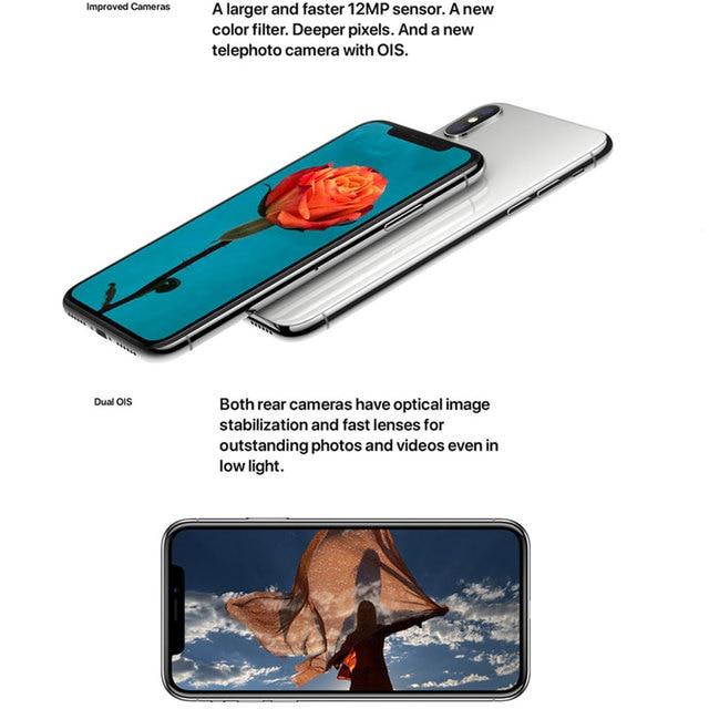 "Original Apple iPhone X 3GB RAM 64/256GB ROM 5.8"" iOS Hexa Core Smart Phone 12.0MP Dual Back Camera Unlocked 4G LTE Mobile Phone 3"
