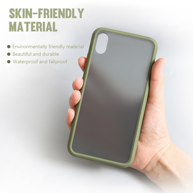 Shockproof Phone Case Back Cover For iPhone 11 Pro Max Luxury Translucent Soft Case For iPhone X XS Max XR 9 8 7 6 6S Plus Case 4