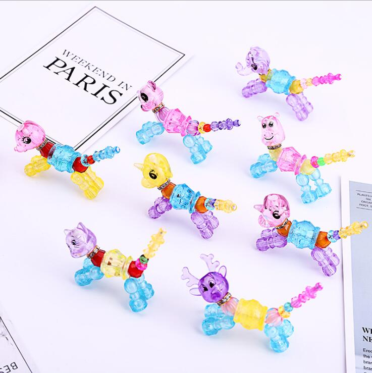 Multicolor Jewelry Beads Kids Educational Training Set Children/'s DIY Crafts N7