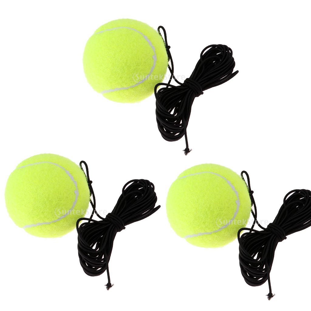3pcs Tennis Ball With String Tennis Trainer Replacement Ball Equipment Gear