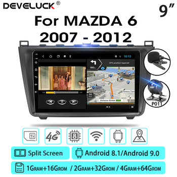 Develuck Android 9.0 2DIN 4G+64G Car Radio Audio Multimedia Player For Mazda 6 Rui wing 2006-2012 Navigation GPS Head Unit RDS недорого