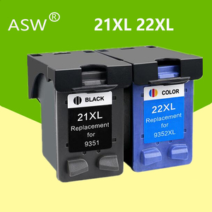 21 22 XL Ink Cartridge Replacement for HP 21 22 For HP21 21XL 22XL Deskjet F2180 F2280 F4180 F380 380 Printer