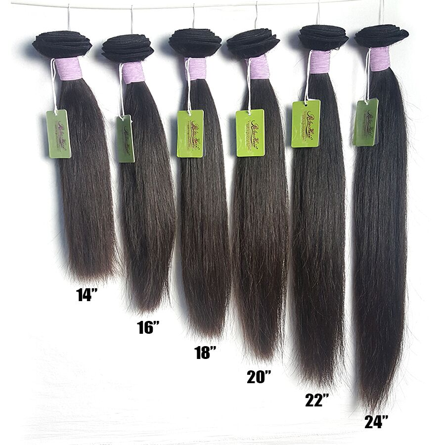 Re4U Hair Virgin Straight 8-40 Inch XP 10A Natural Color Raw Human Bundles One Donor 1/3 Bundles brazilian hair weave bundles