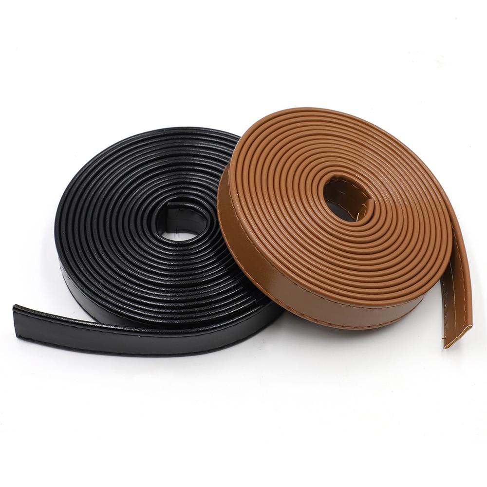 2cm*3m PU Leather Strap Strips Leather Craft DIY Belt Handle Craft Black Red White Coffee