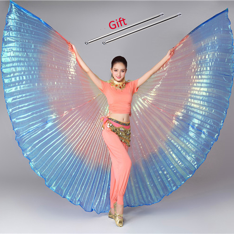 Belly Dance Isis Wings Belly Dance Accessory Bollywood Oriental Egypt Egyptian Wings Costume With Sticks Kids Women Adult Girls