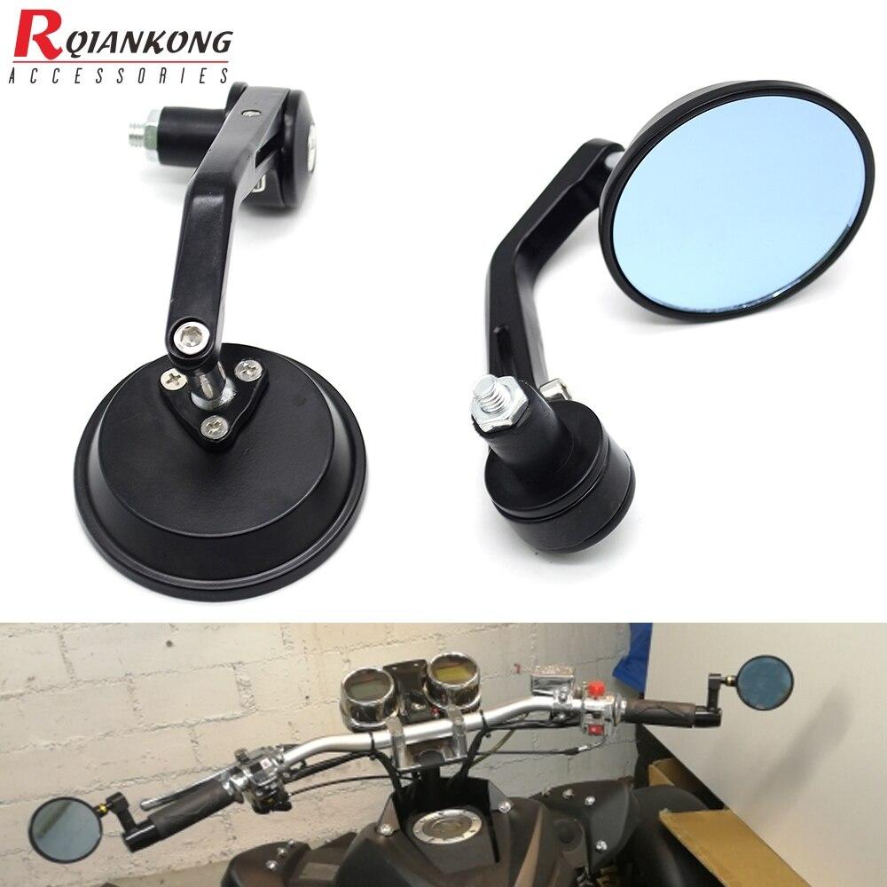 """1Pair Universal 7//8/"""" Round Bar End Rear Mirrors Moto Motorcycle Motorbike"""
