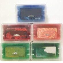 ファイヤーレッド葉緑英語ビデオゲームカートリッジコンソールカード 32 ビット米国ユーロハンドヘルドプレーヤーコンソールシステム