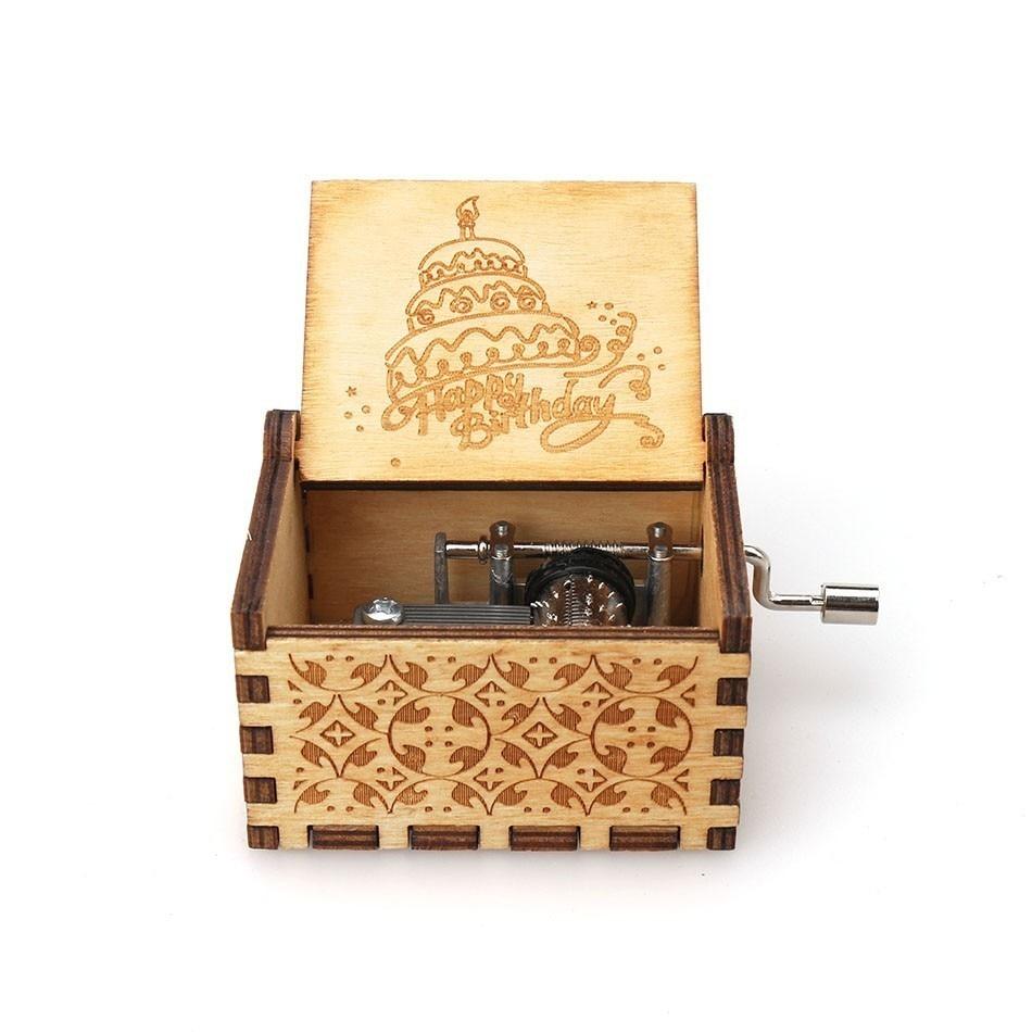 Античная Деревянная рукоятка новая резная королева музыкальная шкатулка Рождественский подарок на день рождения вечерние украшения - Color: 19