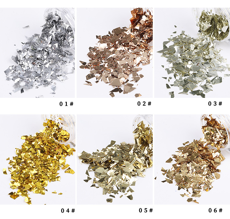 3d набор с блестками голографический блестящий для ногтей в