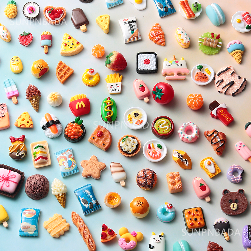 Cute Miniature Dollhouse Supermarket Food Snacks Mini Cake Wine Drink for Blyth Barbies BJD Doll Kitchen Accessories 1