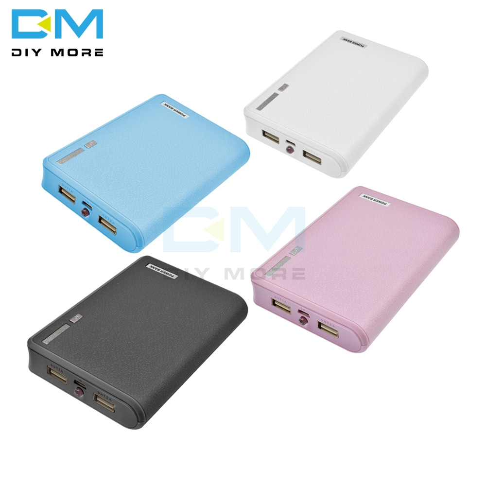 Candy Color 4X18650 Power Bank Battery Holder USB Power Battery Storage Case Box Holder Leads 18650 Battery Storage Organizer