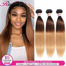 Straight Hair Bundles Honey Blonde Ombre 1B 4 27 Colored Human Weave Malaysian Extension 1 3