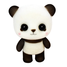 1Pcs Mini Flocking Decoration Doll Cute Panda Exquisite Doll Toys Car Interior Decoration Birthday G