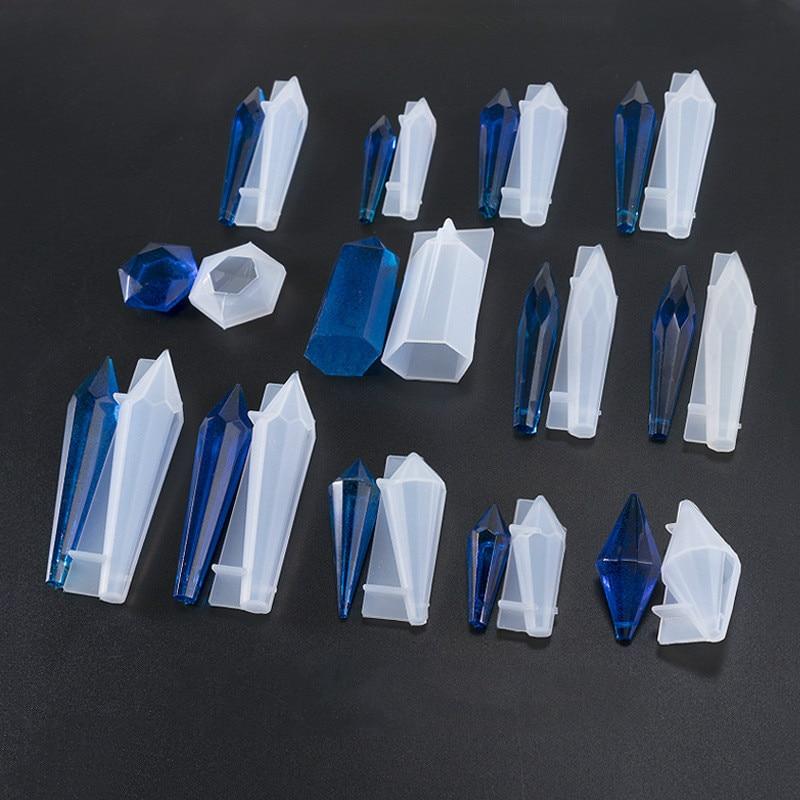 Quartz Shard Silicone Mold Crystal Point Mould  Epoxy Resin Pendant UV Resin Craft Supplies UV Resin Epoxy Mold DIY Jewelry 1PC