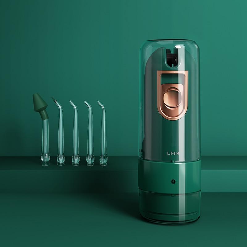 Ирригатор для полости рта LMN L9, перезаряжаемый от USB, водоструйный ирригатор, портативная зубная нить 150 мл, резервуар для воды, водостойкий, 5 ...