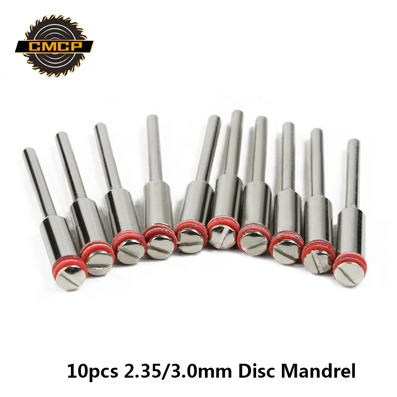 CMCP 10pcs/set 2.35/3.0mm Handle/Steel Screw Mandrel Shank Cutter-Off Holder Dremel Rotary Accessories Tools Disc Mandrel