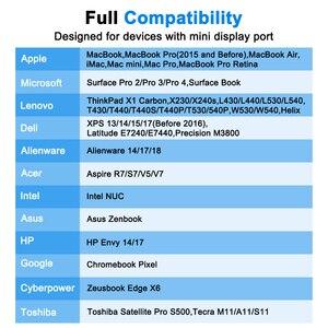 Image 3 - FSU wysokiej jakości Port wyświetlacza Thunderbolt Mini DisplayPort kabel adaptera DP do HDMI dla Apple Mac Macbook Pro Air