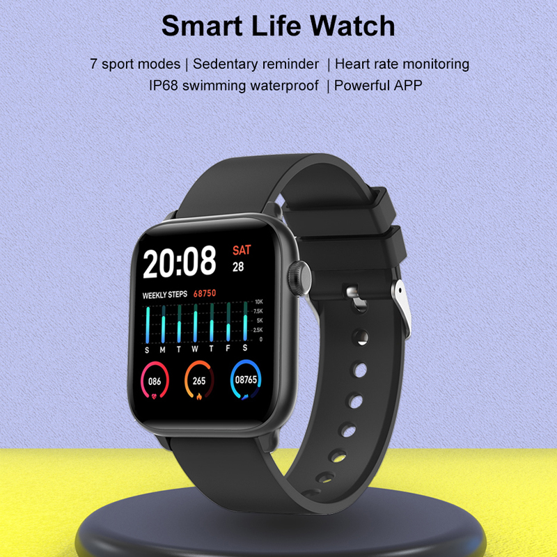 Tiso w37 Bluetooth smart watch band 1.3 inch screen sport sleep heart rate fitness blood pressure oxygen tracker IP68 waterproof 2