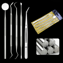 5pcs/set Dental Mirror Kit Dentistry Lab Mouth Mirror Dentist Pick Tool Teeth Scaler Dentistry Tools Dental Materials Kits 10 sets kacks dental product teeth kit for children dentistry for cavity preparation fit air scalers kavo sirona