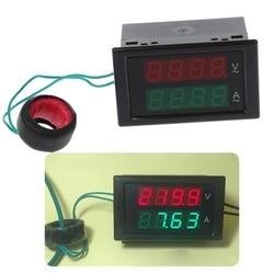 AC80-300V 100A prąd cyfrowy amperomierz woltomierz podwójny wyświetlacz LED Volt Amp miernik prądu metrów Tester narzędzia