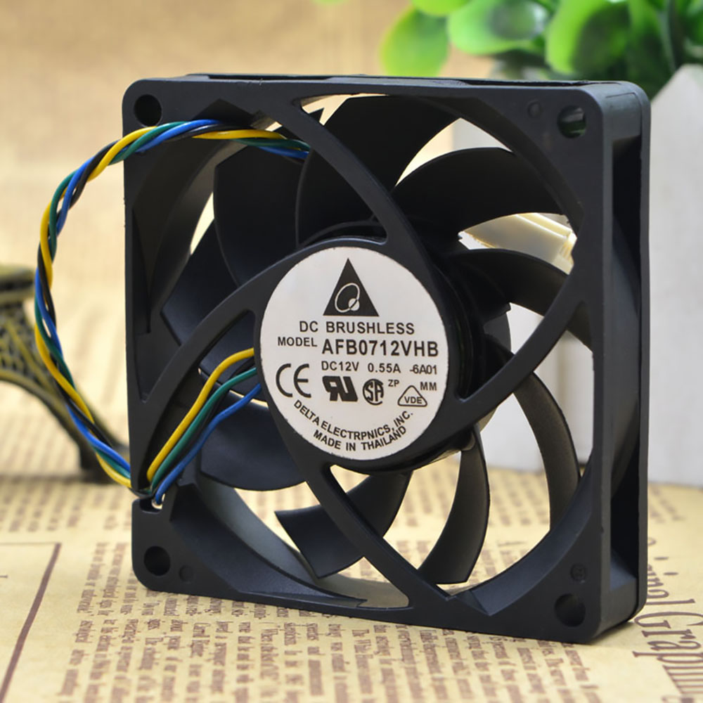 for delta AFB0712VHB 7015 70mm x 70mm x 15mm DC Brushless PWM Cooler Cooling Fan 12V 0.55A 4Wire 4Pin Connector