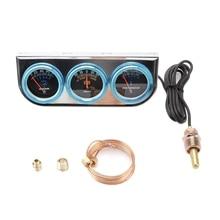2 дюйма масла Давление Amp Напряжение прибор для измерения температуры воды тройной манометр механический хромированная рамка