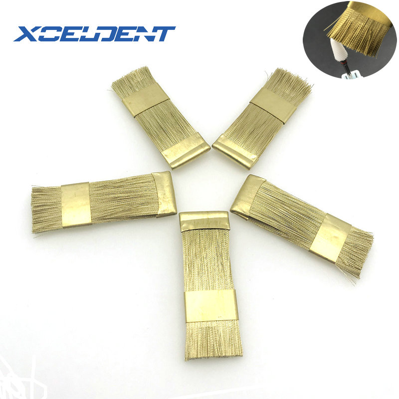 5pcs Bur Cleaning Brass Wire Brush Nail Drill Bits Cleaning Brush Copper Wire Brushes  Dental Burs Files Stand Cleaning Tool