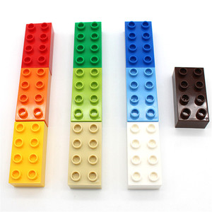 Image 5 - MARUMINE duże cegły 2x4 Duplo blok 30 sztuk/partia klasyczny zestaw edukacji Technic zabawki prezent dla dzieci DIY budynku cegły zestaw