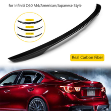 Car Rear Spoiler Wing Real Carbon Fiber Tail Wing for Infiniti Q60 M4/American/Japanese Style Car Styling Carbon Fiber Spoiler epr wholesale order r35 gtr carbon fiber spoiler raise lifter block