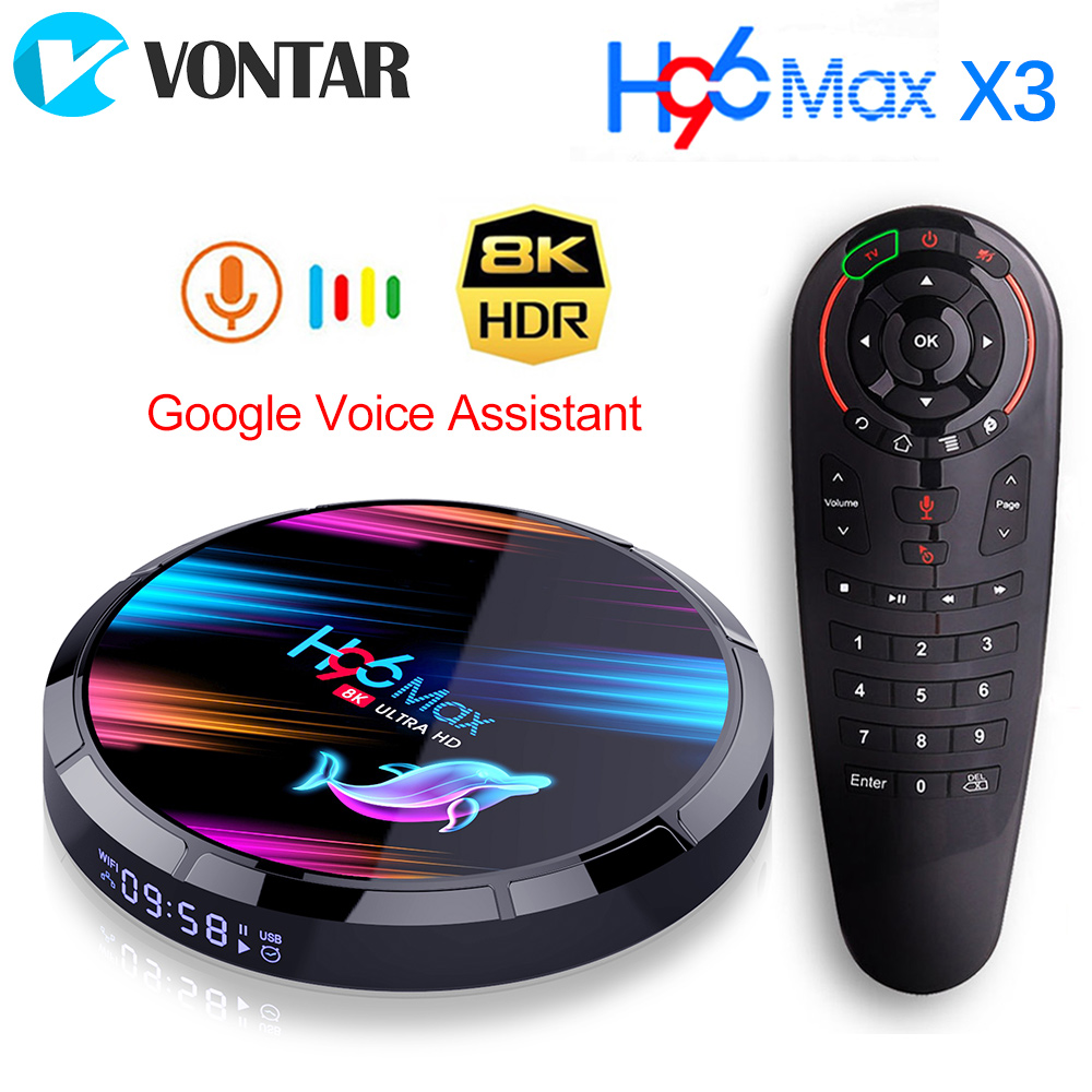 2020 H96 Max X3 8K 4GB 128GB TV Box Amlogic S905X3 Android 9.0 Set Top Box Dual Wifi Google Player Netflix Youtube Media Player