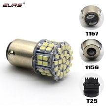 Eurs branco freio traseiro reversa turn signal lâmpada 1157 t20 7440 7443 3156 3157 1156 super brilhante 50 smd led turn signal lâmpada