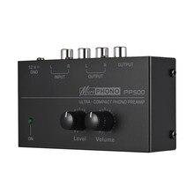 Pp500 ultra-compacto telefone pré-amplificador phono preamp baixo agudos equilíbrio volume tom eq placa de controle
