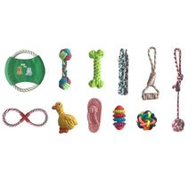11 Pcs Dog Cotton Rope Chewing Toys for Aggressive Chewers Dental Health Parts вира aggressive cut 800245