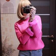 Женский пуловер на весну и осень свитер в европейском стиле