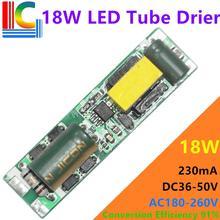 Драйвер светодиодной трубки 9 Вт 14 Вт 18 Вт постоянного тока 36 85 в 180 мА Источник питания 260 0,6 в 0,9 м 1,2 м T5 T8 T10 CE трансформатор освещения, бесплатная доставка