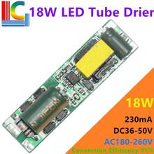 Freeshipping 9W 14W 18W Tubo Del LED Driver DC 36 85V 230mA di Alimentazione 180V 260V 0.6M 0.9M 1.2M T5 T8 T10 CE Trasformatore di Illuminazione