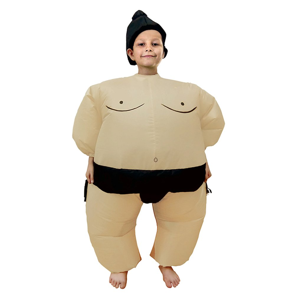 Inflatable Sumo Costume Suits Wrestler Halloween Costume For Adult/Children Fat Man Sumo Party Cosplay Blowup Costume Inflatable