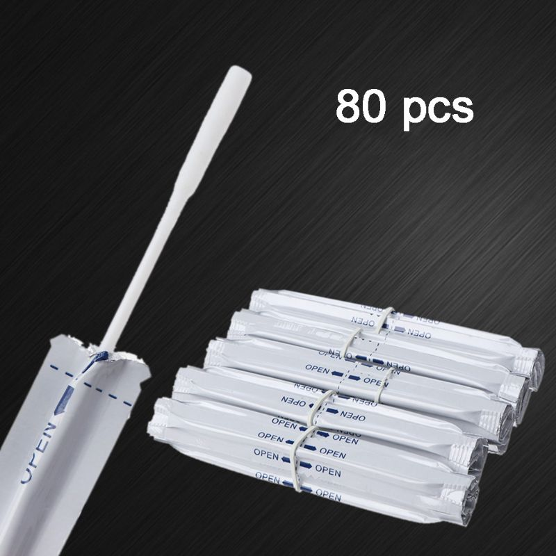 80Pcs/Box 80Pcs/Box Double Head Cotton Cleaning Stick Wet Alcohol Cotton Swabs With Tweezers And Oil Absorbing Sheet For IQOS