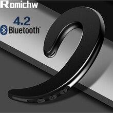 ROMICHW Wireless Headphone Bluetooth Earphone Bone