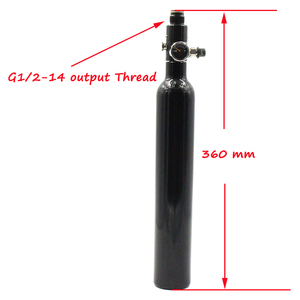 Image 4 - NEW PCP Paintball 0.38L/23CI Cylinder 3000PSI HPA Tanks 50MM Slim Air Bottle 5/8 18UNF