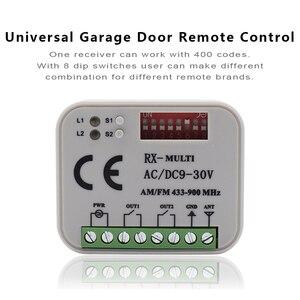 Image 4 - Receptor de relé de interruptor inalámbrico para puerta eléctrica, Control remoto inalámbrico de 2 canales, 433MHz, 868MHz, 315 V, CA/CC, 9 30V, 3 uds.