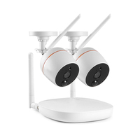 1080P 4Ch Fhd Mini Wireless Video Surveillance System Wifi 2Pcs 2Mp Ip Camera Two Way Audio Pir Home Security Cctv Kit