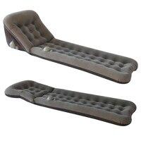 Cama de ar único portátil pressionando automático preguiçoso sofá inflável pode ser dobrado em acampamento e acampamento