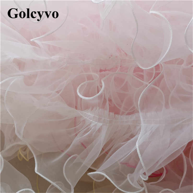1Yard Colorful Organza Overlock Pleated Lace Trims Skirt Doll Clothing DIY Sewing Crafts Fabric 12cm Width