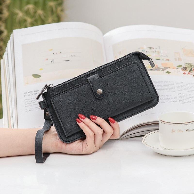 Купить женский длинный многофункциональный кошелек hugwiser на молнии