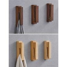 1PC Handtuch Halter Kleine Haushalts Wand Montiert Holz Haken Wand Aufhänger für Handtuch Tasche Kleidung